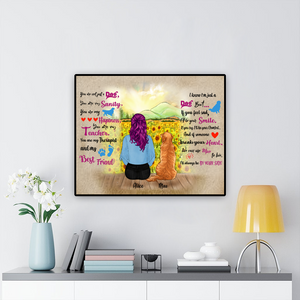 Personalized Woman & Dog Poster