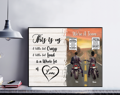 Personalized Motorcycle Couple - This Is Us Whole Lot Of Love