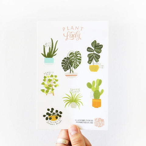 Plant Lady - sticker sheet