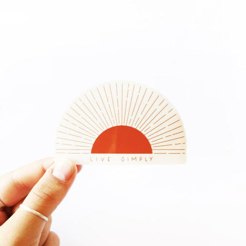 Live Simply, Sun - vinyl sticker