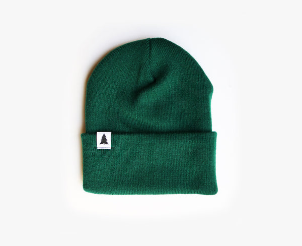 Pine tree label beanie - Green
