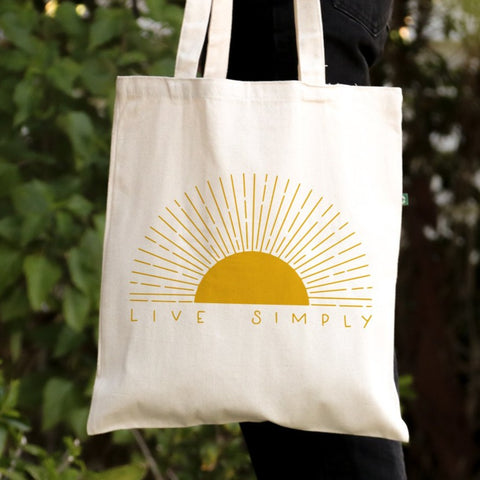 Live Simply - Canvas Tote Bag - Recycled Cotton