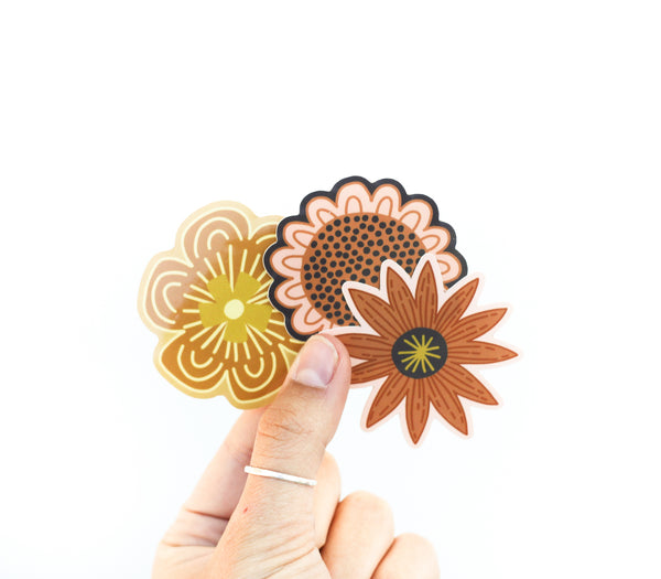 Yellow wild flower Sticker