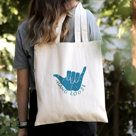 Hang Loose - Canvas Tote Bag - Recycled Cotton