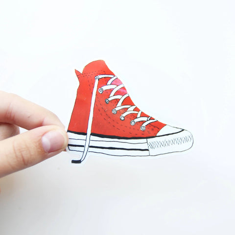 Red Converse Sticker