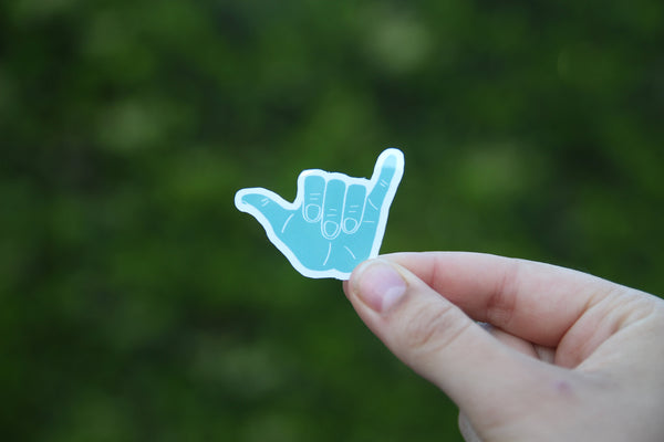 Mini Hang Loose Sticker