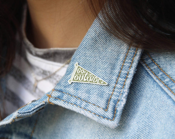 Go Outside Enamel Pin