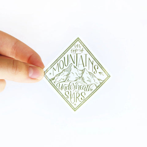 Mountain Stargazer Sticker