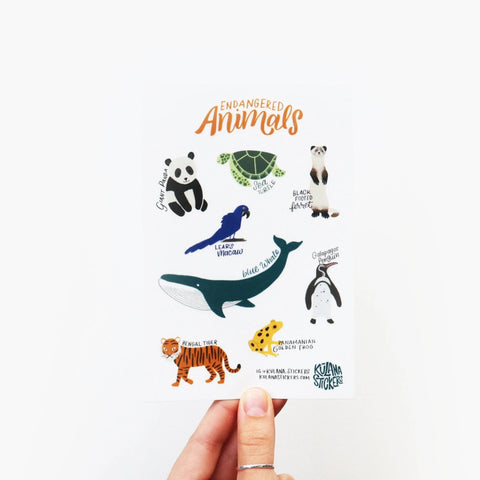 Endangered Animals Sticker Sheet