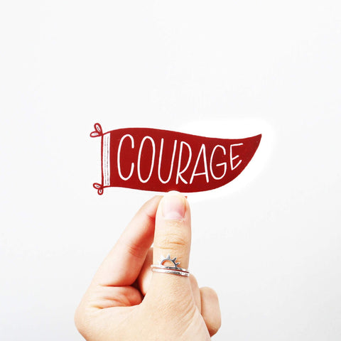 Courage Pennant Sticker