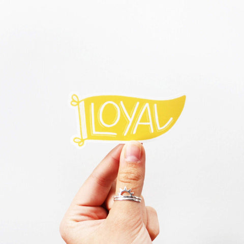 Loyal Pennant Sticker