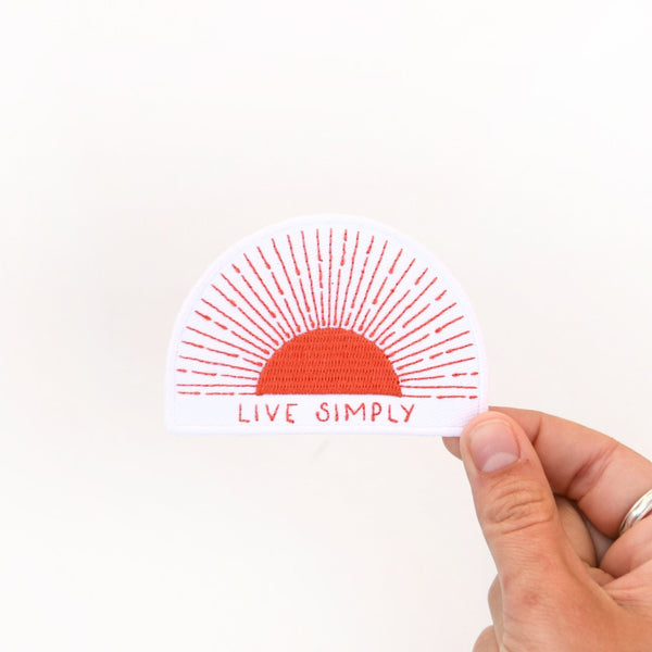 Live Simply Sun Iron On Patch