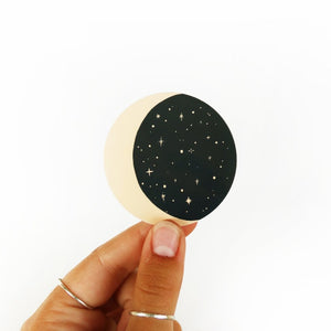 Moon and Stars Sticker