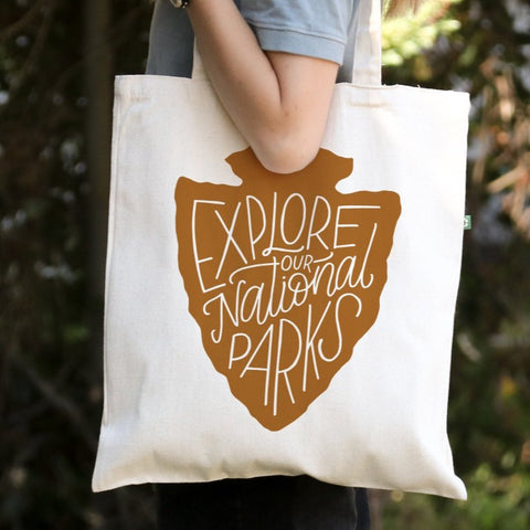 Explore Our National Parks - Canvas Tote Bag - Recycled Cotton