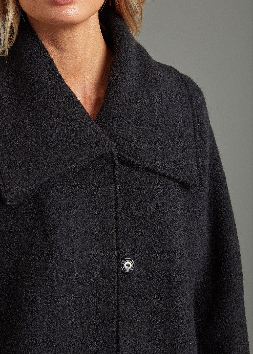 Adini Falmouth Knit Coat - Black