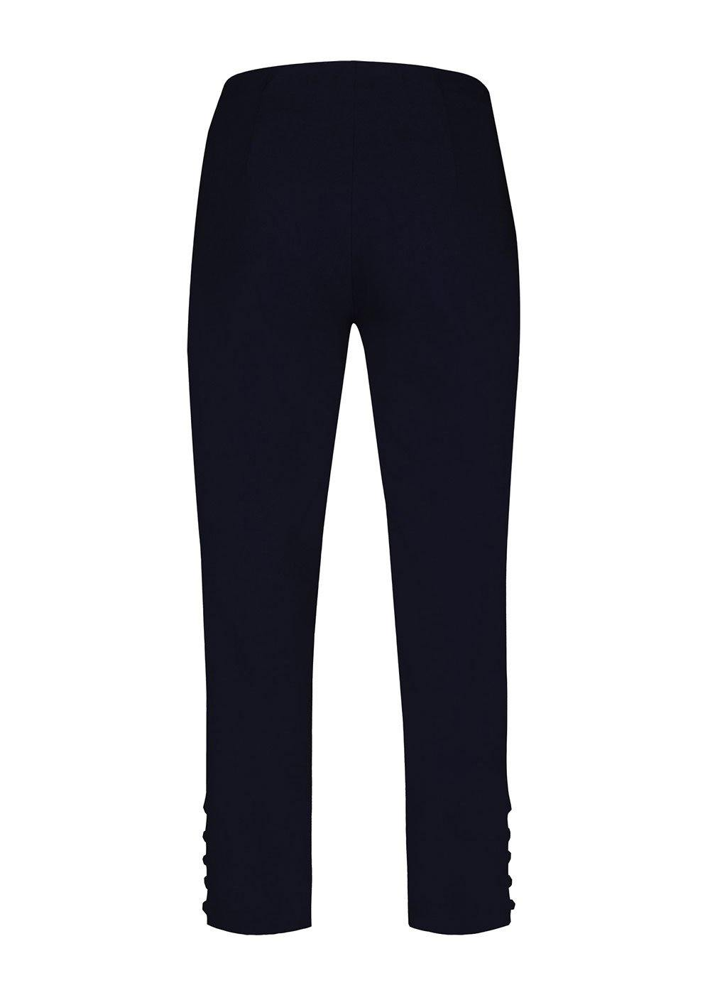 Robell Lena Cut-Out Cropped Trousers - Navy