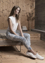 Load image into Gallery viewer, Robell Bella Blue Animal Print Trousers