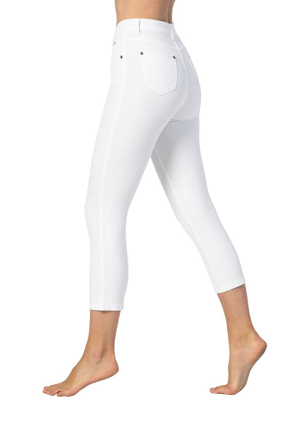 Marble High-Waisted 4-Way Stretch Slim Jeans