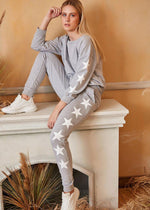 Load image into Gallery viewer, Star Print Loungewear Set