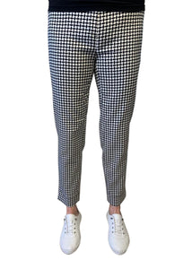 Robell Rose Square Print Trousers - Black