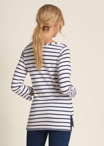 Load image into Gallery viewer, Hatley 3/4 Sleeve Breton - Navy Stripes