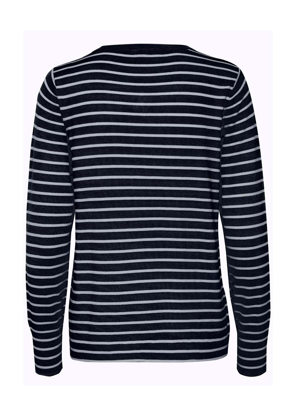 Fransa Striped Cotton Knit