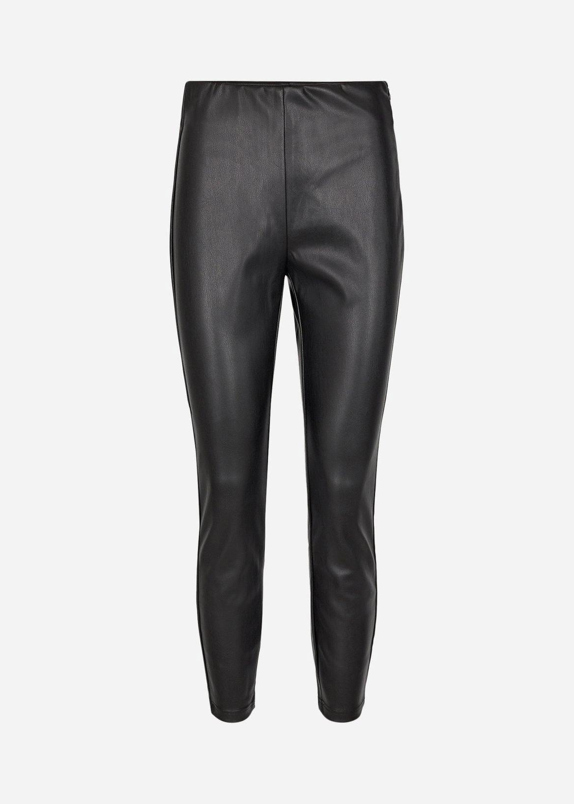 Soya Concept Beckie Faux Leather Trousers - Black