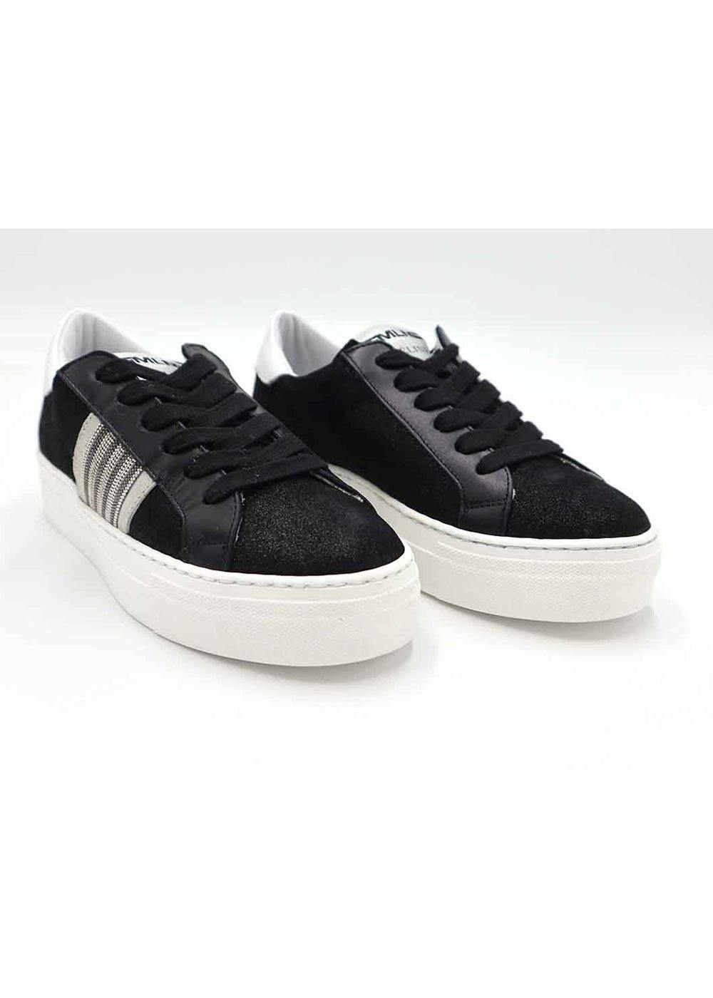 Meline Galaxy Stripe Black Trainers