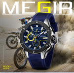 Load image into Gallery viewer, MEGIR Luxury Waterproof Luminous Chronograph Quartz Army Military Watch