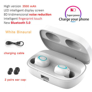 LED Bluetooth Wireless Earphones Headphones Earbuds TWS Touch Control