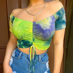 Load image into Gallery viewer, M.L.A. Summer Women Tie Printed Top+Shorts Sets Two Piece Set