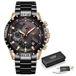 Load image into Gallery viewer, LIGE Mens Luxury Chronograph Male Stainless Steel Watch