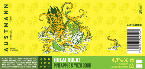 Hula! Hula! - Pineapple & Yuzu Sour (20L KeyKeg) **SOLD OUT**
