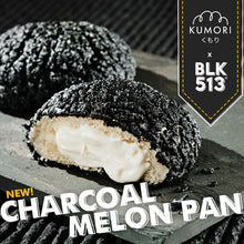 Load image into Gallery viewer, Charcoal Melon Pan