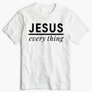 Christian T-Shirt - Jesus over Everything
