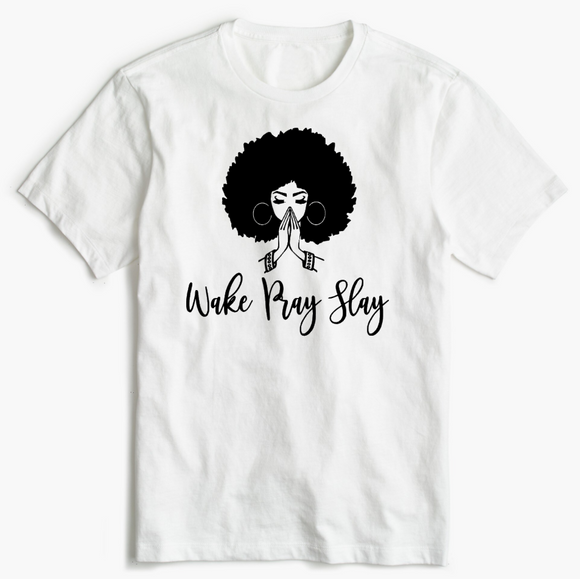 Christian T-Shirt - Wake Pray Slay