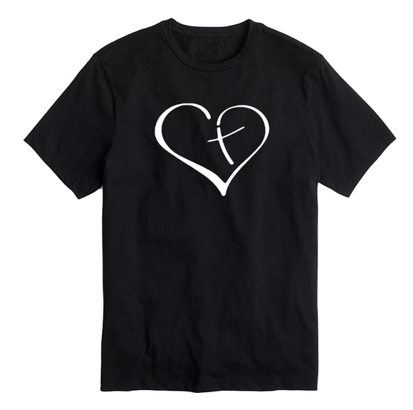 Christian T-Shirt - Heart Cross