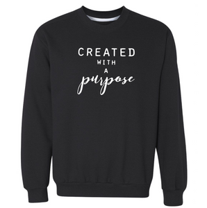 Created With A Purpose Premium Sweatshirt | Christian Sweatshirt | Christian Shirt