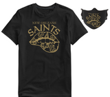NEW ORLEANS SAINTS SPORTS TEE SHIRT With or Without Face Mask