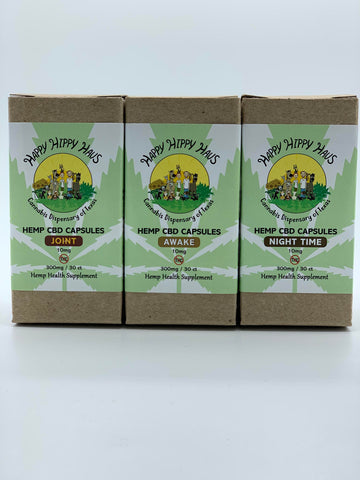 10mg Hemp CBD Capsules Happy Hippy Haus