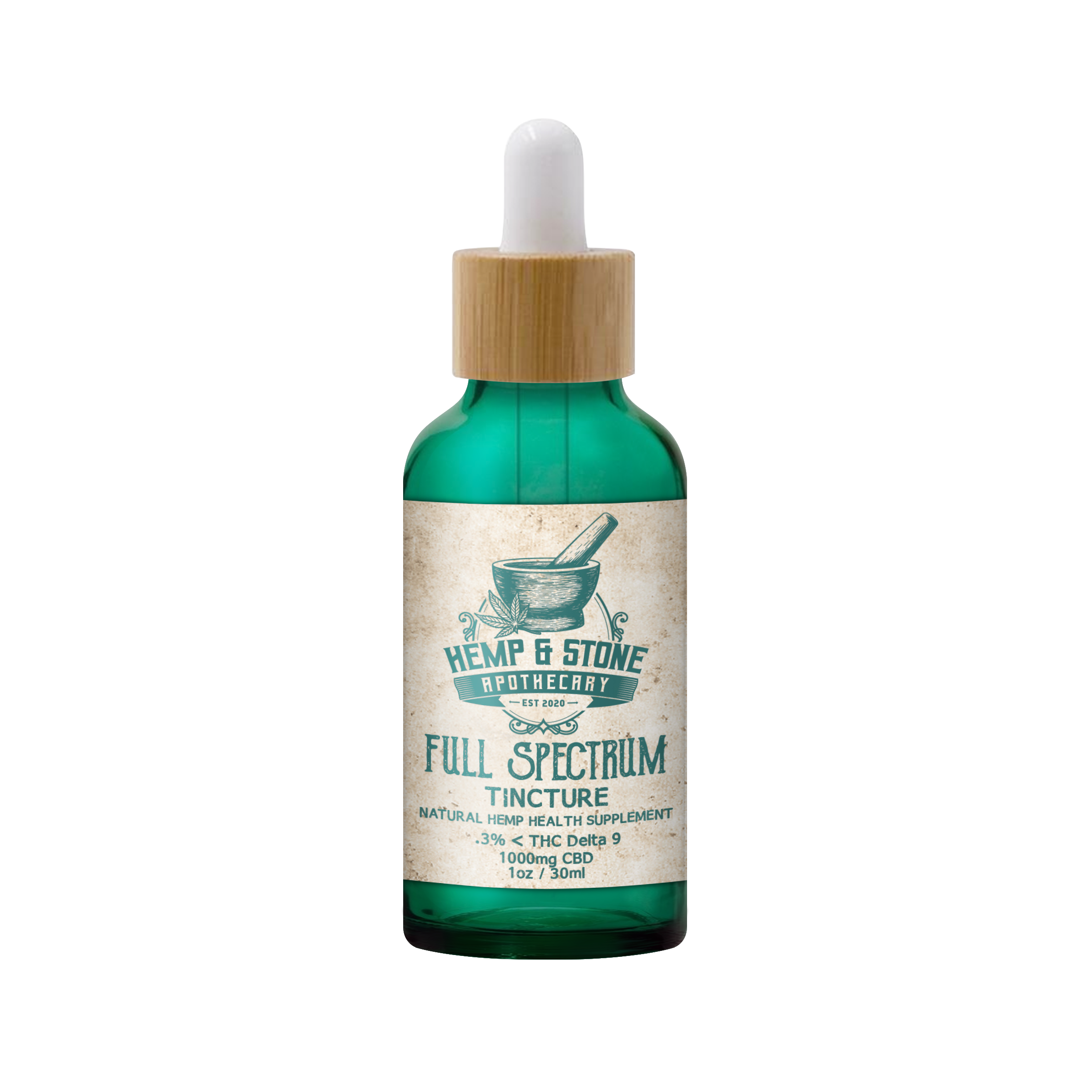 Hemp & Stone Apothecary Full Spectrum CBD Tincture 1000mg