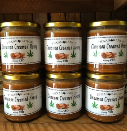 Texas Range CBD Cinnamon Creamed Honey 450mg