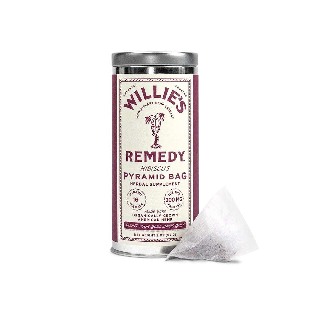 Willie's Remedy Hibiscus Tea 2oz Tea Bag Tin 200mg
