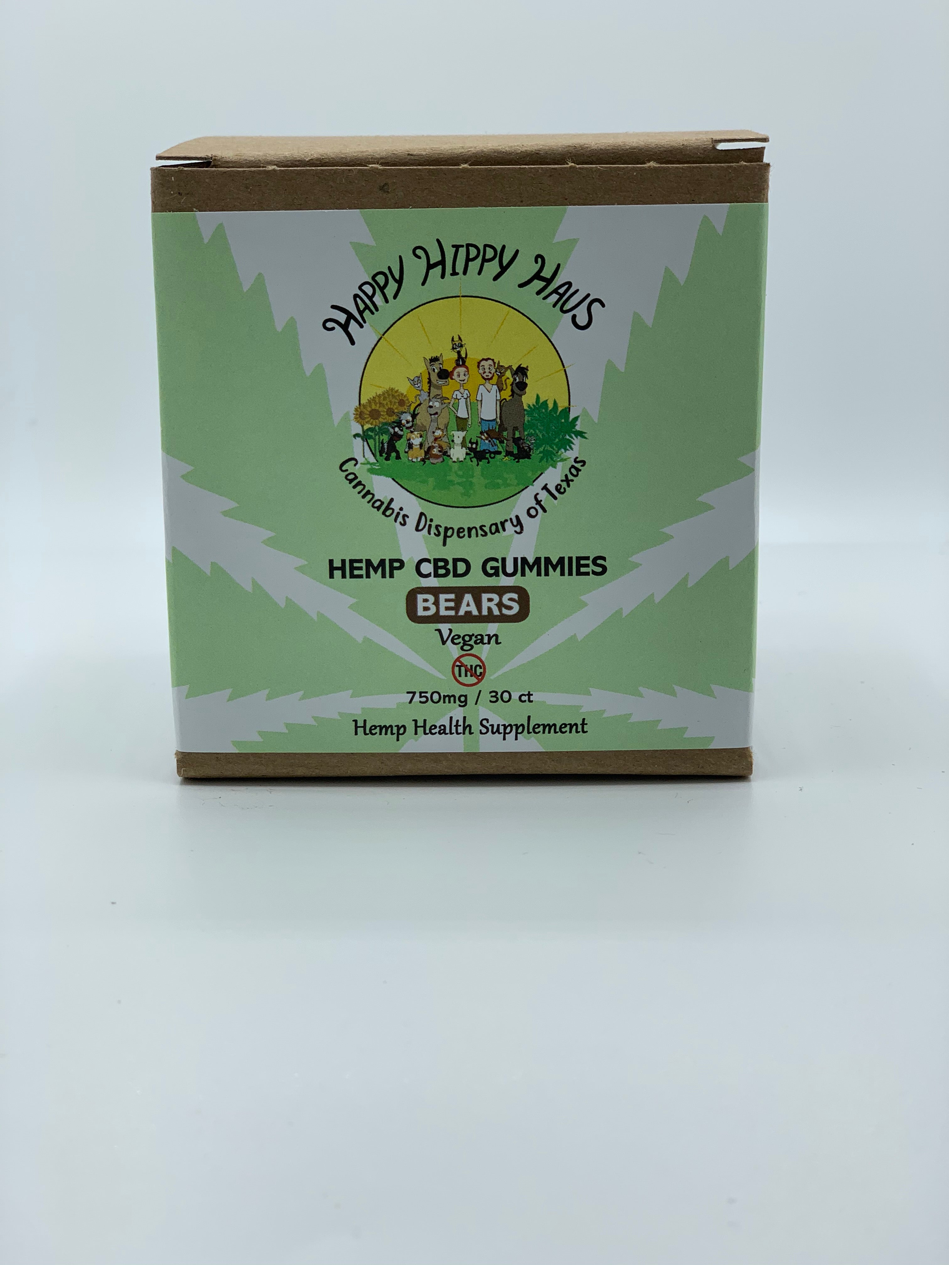 750mg Hemp CBD Gummy Bears Happy Hippy Haus