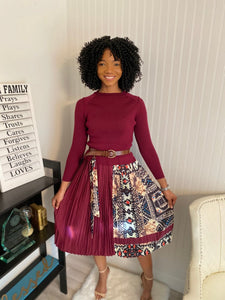 Burgundy art basel dress