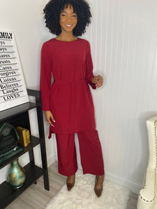 Burgundy two piece set