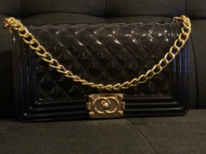 BLack gold chain purse - Modestapparels