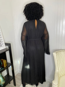 Country black dress - Modestapparels