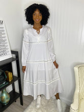 Load image into Gallery viewer, White Deborah dress - Modestapparels