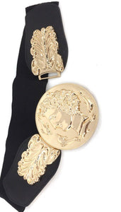 Romans gold and black belt - Modestapparels
